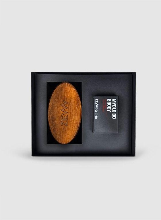 Pakiet Brodacza ZEW for men - Zestaw mydło do brody ze szczotką