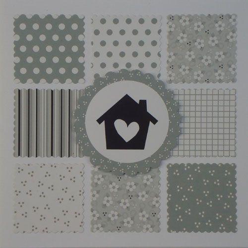 Vandaag weer twee kaarten, die we maakten met ons nieuwe paperbloc.      We gebruikten o.a. de volgende materialen:  - Marjoleine's huisj...