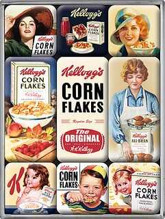 Imanes nevera Vintage Kellogg's Corn Flakes by memuno.com, via Flickr