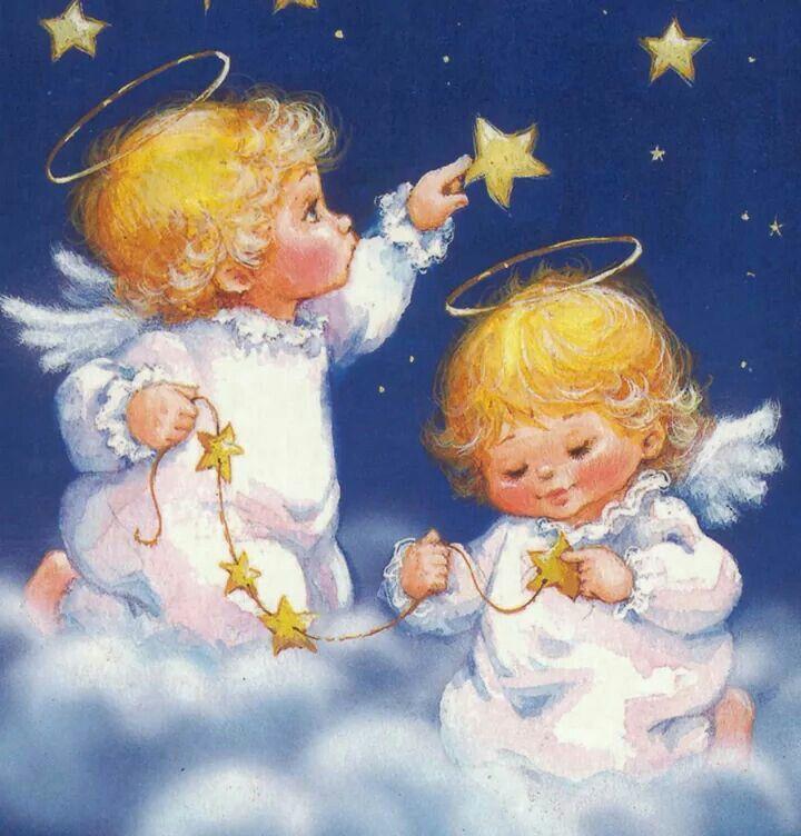 ангел для рождества картинка середине прошлого века