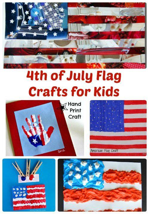 4th of July Flag Crafts for Kids | The Jenny Evolution