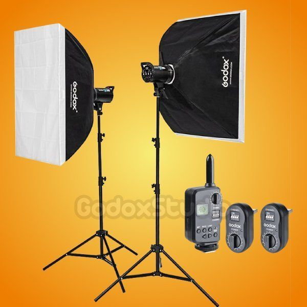 Godox DE-400 800W Studio Flash Strobe 60x90cm Softbox Lighting Kit + FT-16 230V #Godox