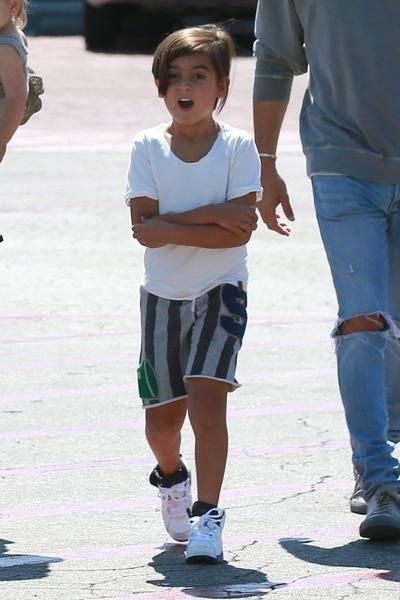 Mason Disick wearing Air Jordan 6 Retro Bg Sneakers