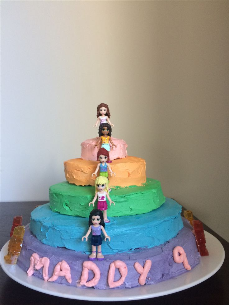 Lego Friends cake for 9 year old