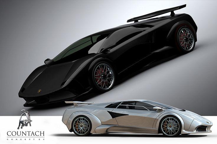 авто lamborghini countach ev concept 2009