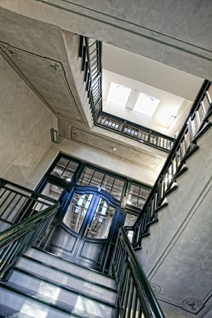 interior, old building, post-industrial, architecture, conferences, Poznań, stairs