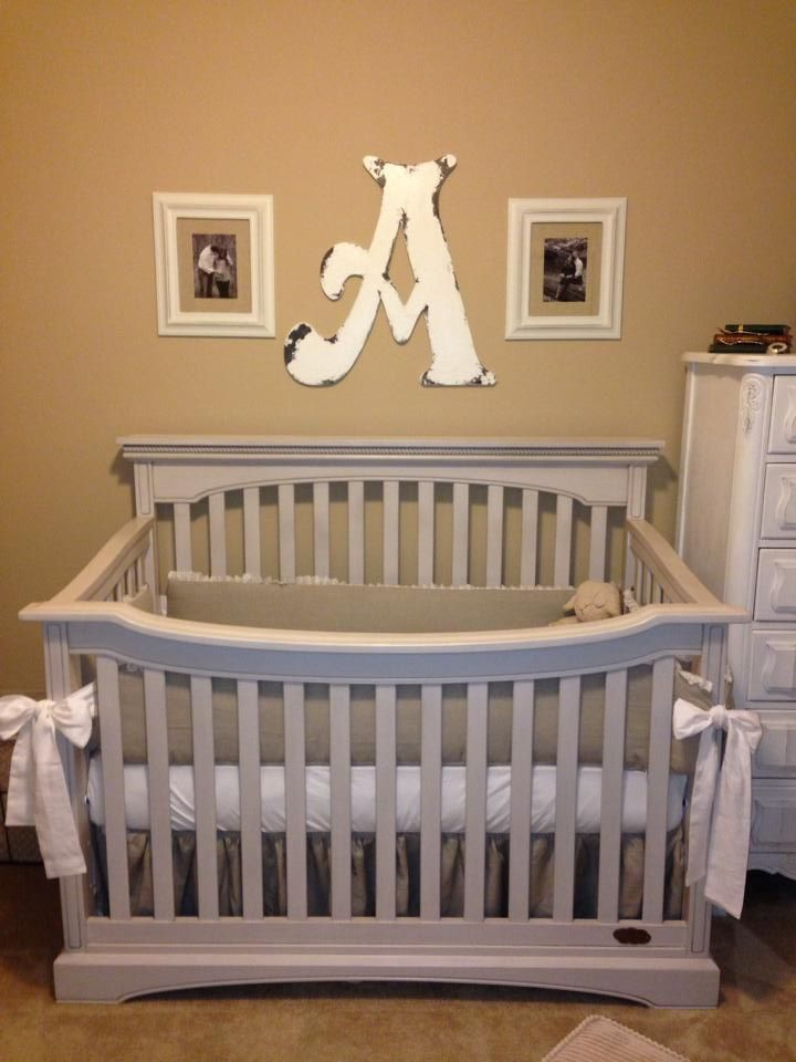 Neutral Nursery: Annie Sloan Chalk Painted White Furniture, New Crib (not  Chalk Painted
