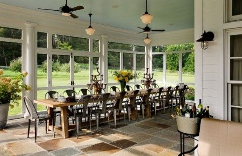 Always hosting the large family gathering? Add the screened in porch and you can see why!