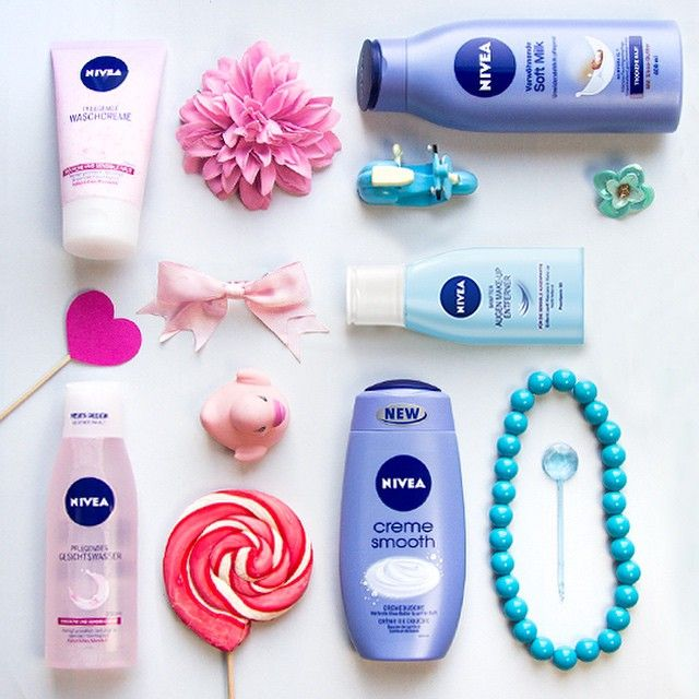 Look at all these #NIVEA beauties! #Flatlay #Thingsorganizedneatly
