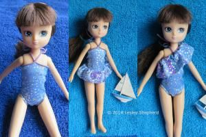 Take a Doll to the Beach in a New Swimsuit: Easy to Make Swimsuit for any Size or Shape of Doll