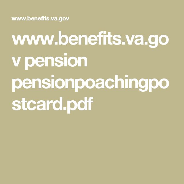 www.benefits.va.gov pension pensionpoachingpostcard.pdf