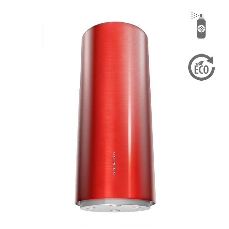 Okap wyspowy Ciarko Design ORW Color czerwony http://www.sklep.ciarkodesign.pl/e-sklep/okapy-wyspowe/or-w-color-red-detail  #DESIGN #KitchenIsland #OKAP