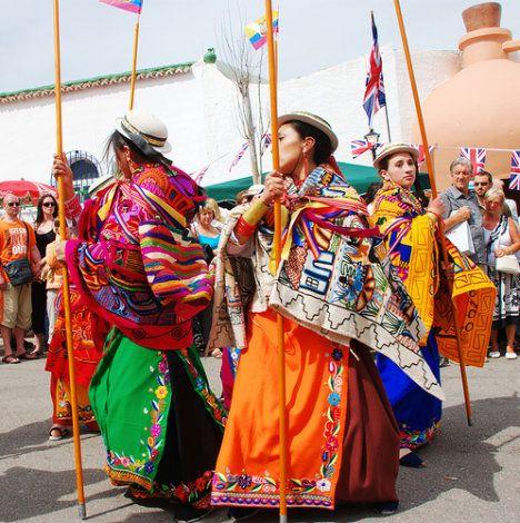 Riobamba, Ecuadorian dancers.