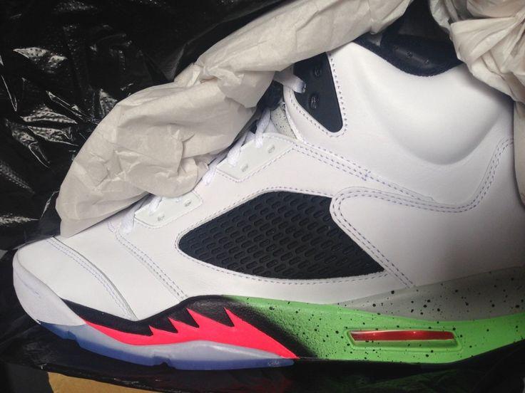 Nike Air Jordan 5 Retro V Space Jam Poison Green Black Pro