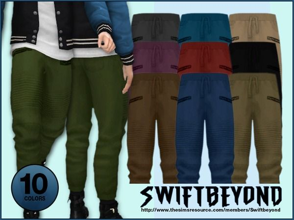 Jogger Pants by Swiftbeyond at TSR • Sims 4 Updates