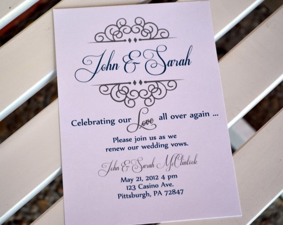 Wedding Vow Renewal Invitation Wording Samples: 102 Best Images About Invites & Thank Yous