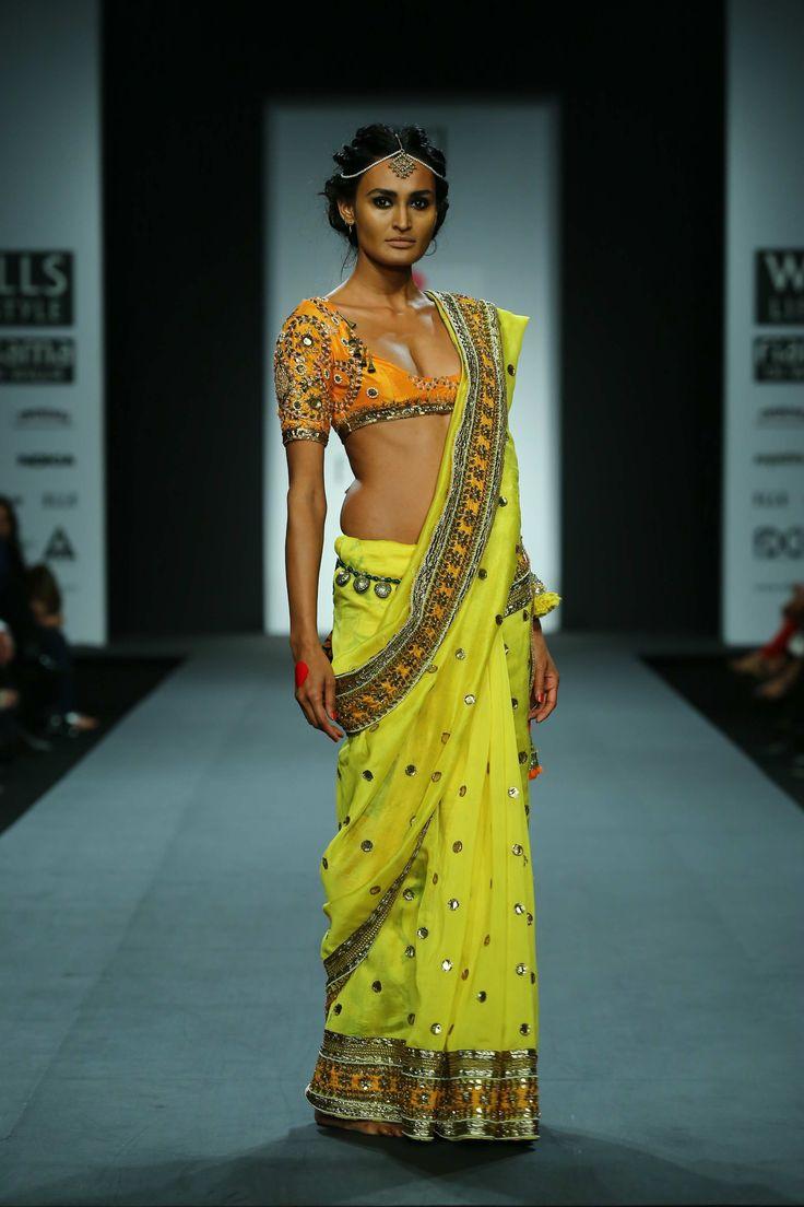 Yellow sari by Anupama Dayal. Fall/Winter 2014-15
