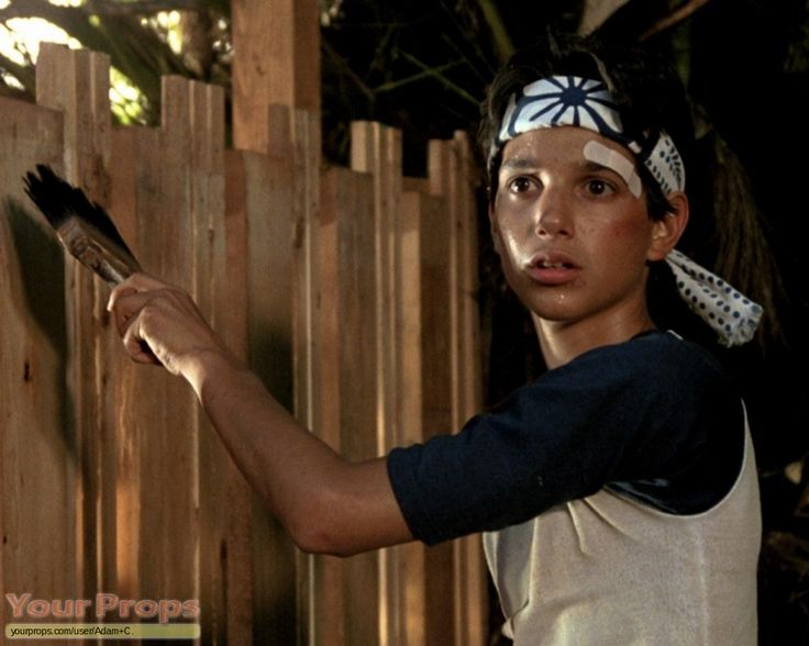 Paint the fence - classic karate kid move
