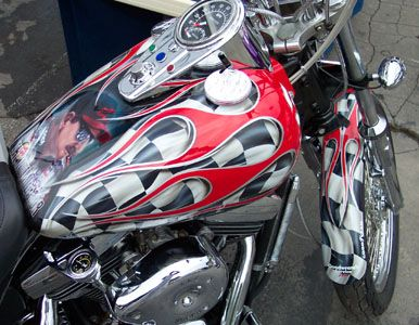 17 best ideas about motorcycle paint jobs on pinterest custom paint pinstriping and custom - American motorbike garage ...