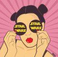 ilustrações pop cartoon mad mari star wars