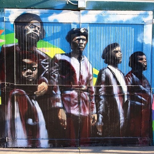 A is For Graffiti & Murals - Black Panthers at 8th and Campbell (West Oakland)