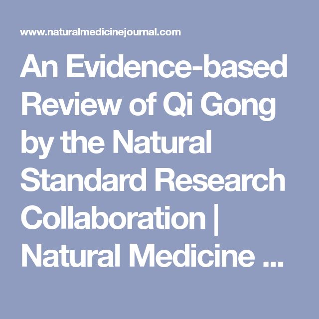 An Evidence-based Review of Qi Gong by the Natural Standard Research Collaboration | Natural Medicine Journal