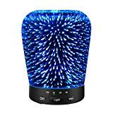 #7: Aromatherapy Oil Diffuser SZTROKIA 180ml Essential Oil Ultrasonic Cool Mist Humidifier with 3D 14 Color Changing Starburst LED lights