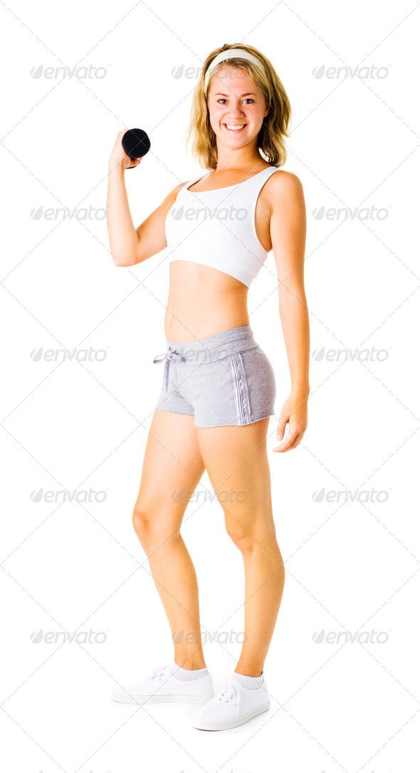 Young Woman Working Out On White (athletic, attractive, background, beautiful, beauty, body, caucasian, determination, exercise, female, figure, fit, fitness, girl, gym, happiness, happy, health, healthy, isolated, lifestyle, lift, lose, losing, loss, muscle, muscular, person, physical, positive, recreation, slim, smile, strength, strong, thin, train, weight, weightloss, wellness, white, woman, workout, young, youthful)