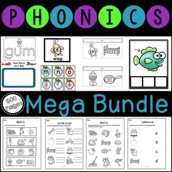 Over 600 pages! Perfect for RTI! This big bundle of phonics activities includes interactive notebooks that are great for your literacy stations or word work! Includes phonics and phonemic awareness activities! Perfect for RTI!