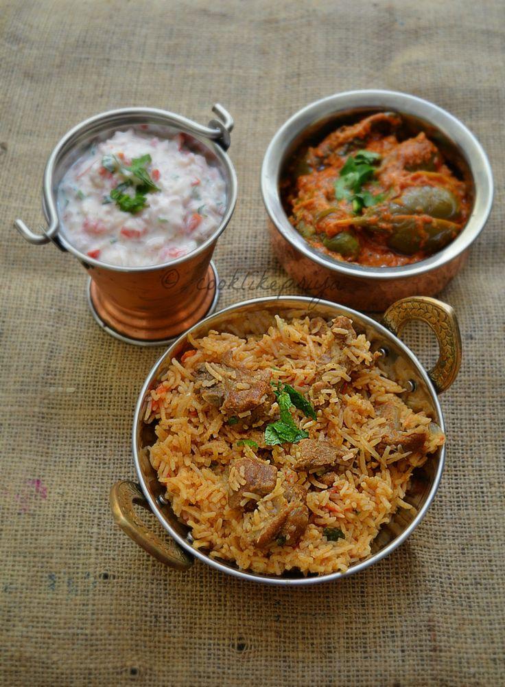 Amma's Mutton Biryani Recipe   South Indian Style Mutton/Goat Biryani