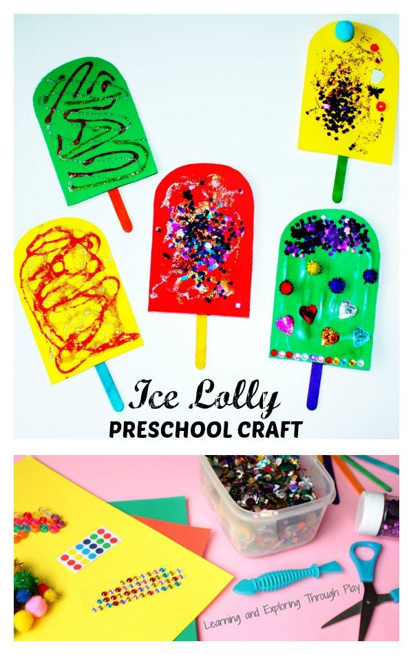 Ice Lolly Summer Craft for Toddlers and Preschoolers - Learning and Exploring Through Play