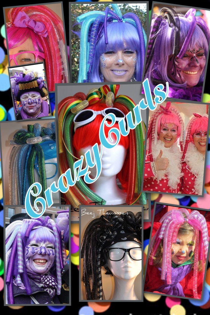 Fab colours! CrazyCurls for carneval, halloween or @ a funky party!