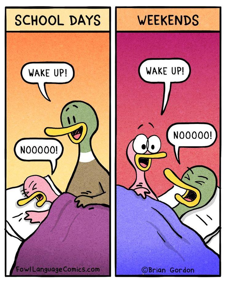 Waking Up Fowl Language Comics Mommy humor, Fowl