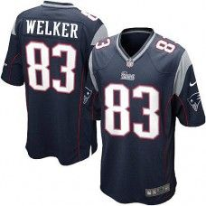 Youth Blue NIKE Game    New England Patriots #83 Wes Welker Team Color   NFL Jersey