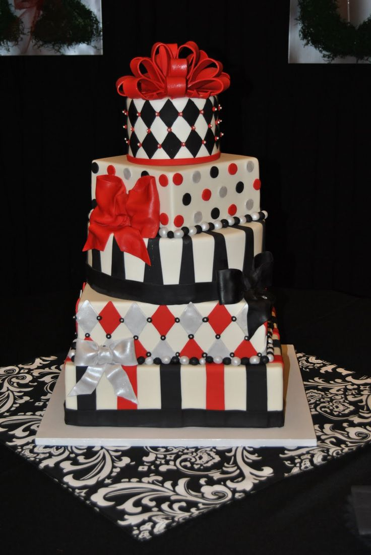 Red And Black Cake Designs