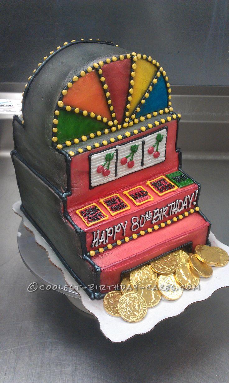 Coolest Slot Machine Birthday Cake... This website is the Pinterest of birthday cake ideas