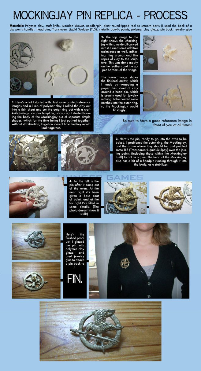 97 best the hunger games images on pinterest the hunger games mockingjay pin polymer clay replica process by imprefectlin buycottarizona Gallery