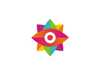 Colorful god s eye ojo de dios logo design by alex tass