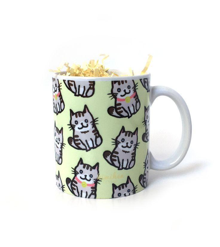 Cute Cat Mug . . . http://www.kiwihen.com/products/cute-cat-mug?utm_campaign=Pinterest%20Buy%20Button&utm_medium=Social&utm_source=Pinterest&utm_content=pinterest-buy-button-126485c4a-9f9c-40b6-8027-6673a7250ef9