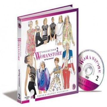 Liibro Womanstore vol.2, Un DVD adjunto incluye toda la serie de figurines técnicos e imágenes gráficas, en formato vectorial, libre de todas las restricciones de derechos de autor, para el instante, el uso personalizado.