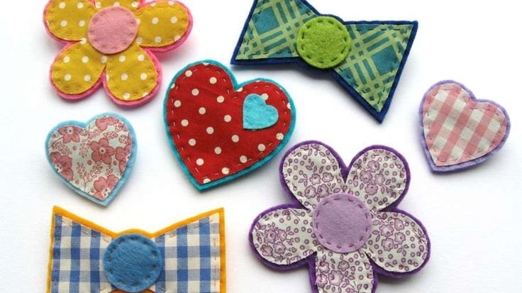 Collection of colourful felt badges | How to make felt and fabric badges | Tesco Living