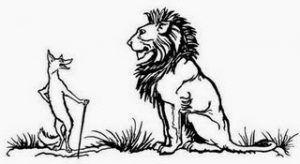 Der Löwe und der Fuchs | Fabel von Johann W. L. Gleim
