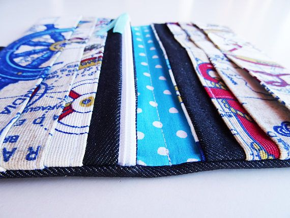 This beautiful Vegan Wallet is made with denim fabric. Most phones will fit also. For more strength this wallet is wadding with soft vinyl fabric inside. FABRIC: Main fabric and lining – microfiber, cotton, polyester, velkro tape Soft vinyl fabric wadding  SIZE: = when open: 8*8in (20*20