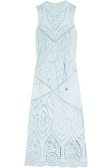 Zimmermann | Epoque broderie anglaise cotton midi dress | NET-A-PORTER.COM