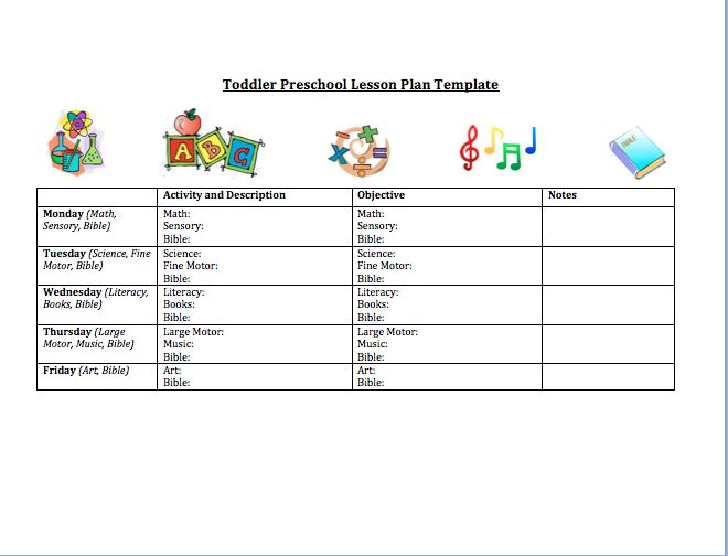 The  Best Preschool Lesson Plan Template Ideas On