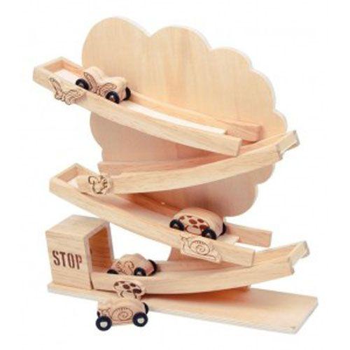 Houten baby-autobaan, baby speelgoed, dreumes autobaan