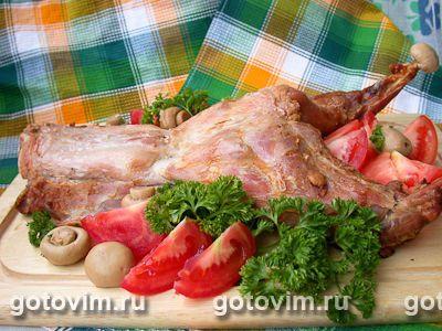 Кролик печеный (на соли). Фотография рецепта