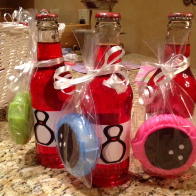 Bowling party birthday favors