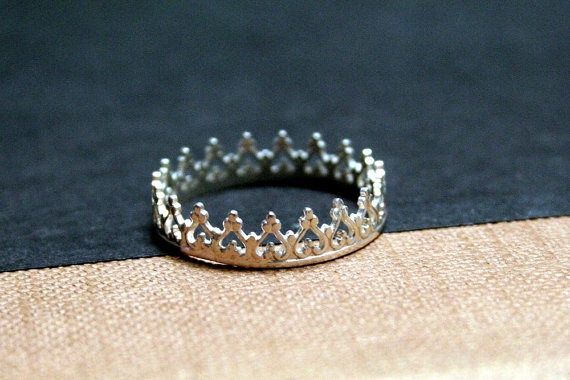 Little Princss Crown Sterling Silver Ring