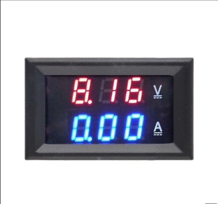 1 unids Superior Calidad de la CC 100 V 10A Del Amperímetro Del Voltímetro Azul + Rojo LED Dual Amp Digital Volt Meter Medidor de Voltaje de Corriente de Uso En El Hogar herramienta